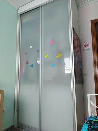 Puertas correderas cristal ahumado para armario