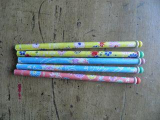 Pack 5 lapices decorados