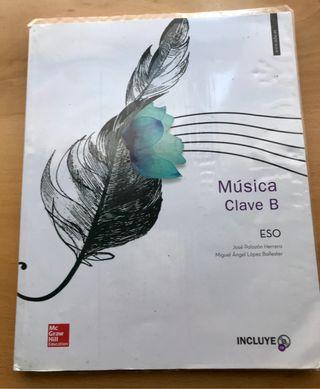 Libro Música Clave B ( ESO) Ed : Mc GrawHill