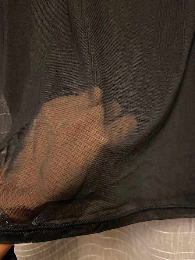 Camisa transparente negra