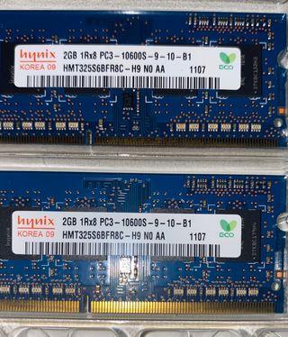 Memoria RAM 4GB PC3 Hynix Macbook