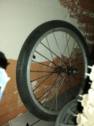 vendo rueda de bici plegable