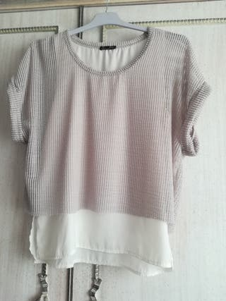blusa rejilla Zara