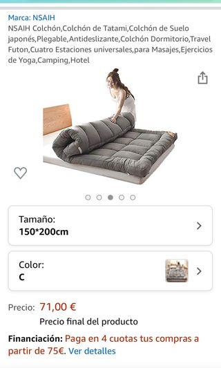 Colchón, tatami 150 x 2 m, nuevo