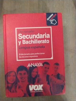 Diccionario lengua secundaria y bachillerato