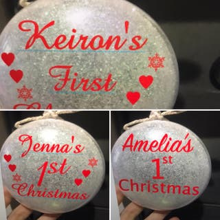 Baby's first Christmas/Xmas bauble