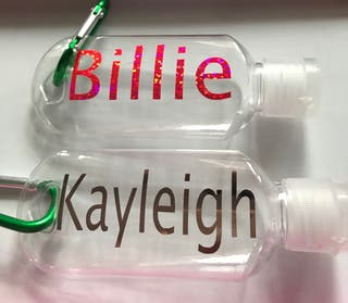 Personalised Mini bottles with d-catch