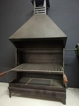 Barbacoa parrilla Regulable