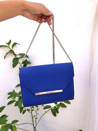 Bolso de mano azul oscuro