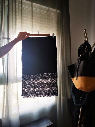 falda encaje Zara