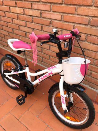 Bicicleta TREK 16 rosa