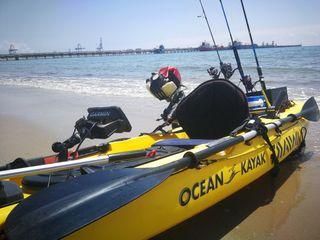 kayak de pesca + motor + sonda