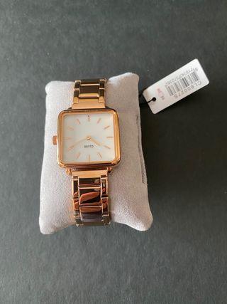 Reloj mujer Cluse correa eslabones oro rosa