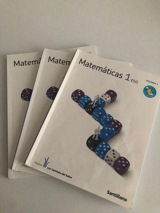 Libro de matemáticas 1º Eso Santillana
