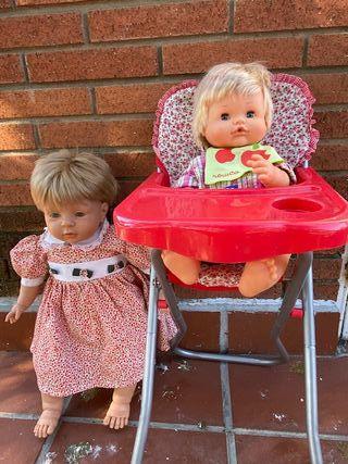 Nenuco + sillita comer + Muñeca grande
