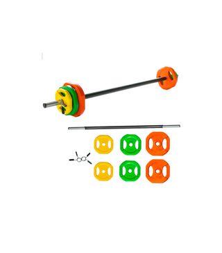 Juego de Body Pump, set pesas con barra recta de c