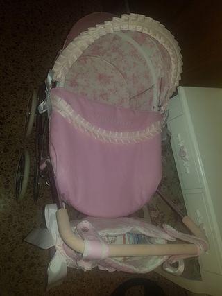 cochecito de bebe reborn arias rosa..