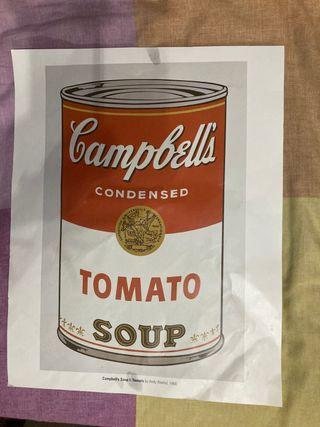Póster Campbells Andy Warhol