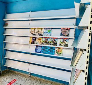 Estantería expositora de revistas o libros