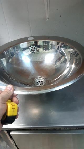 cuba lavabo o lavamanos de inox brillo