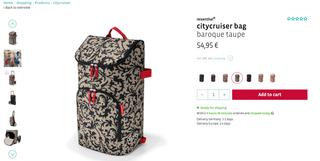 Reisenthal carro de la compra, bolsa porta equipaj