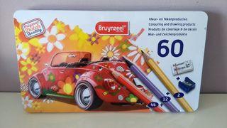 caja lápices 60 colores Bruynzeel
