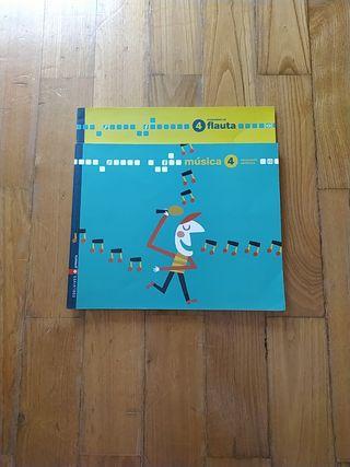 Libro de música + cuaderno de flauta 4 primaria