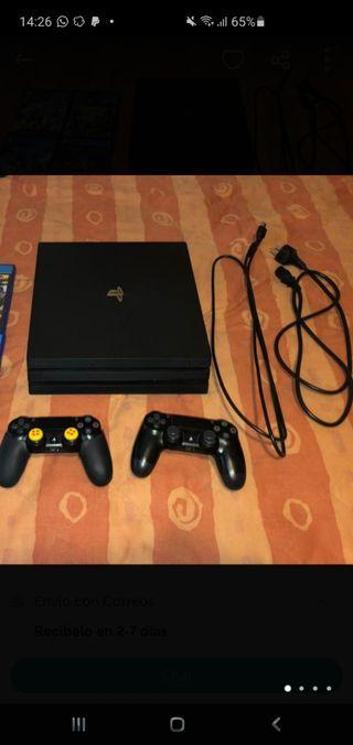 PS4 PRO+2 MANDOS+PS PLUS+ JUEGOS