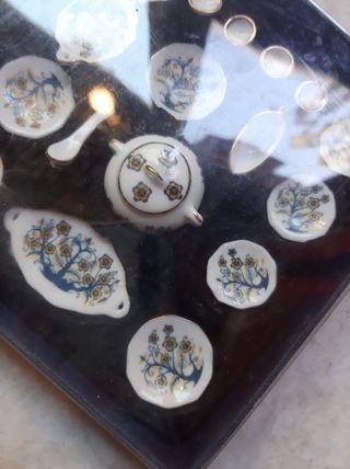 Set vajilla mini casa de muñecas
