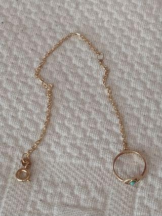 pulsera y anillo bebé oro