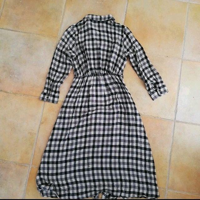 Vestido/sobrecamisa de Zara