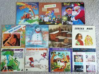 LOTE lp's cuentos y canciones infantiles
