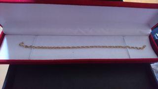 pulseras de acero quirúrgico en baño de oro