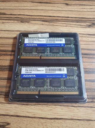 2 módulos memoria ram 2G