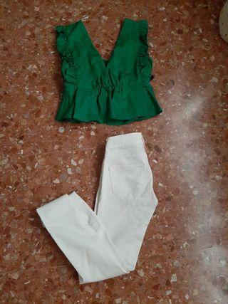 Conjunto top y pantalon 12€