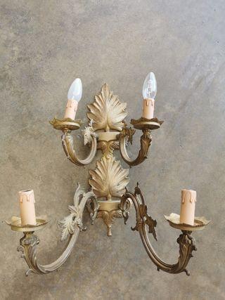 lámpara pared 4 brazos candelabro