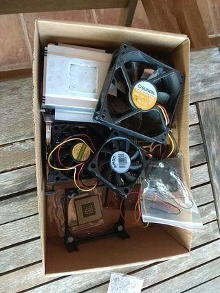 lote ventiladores/disipadores