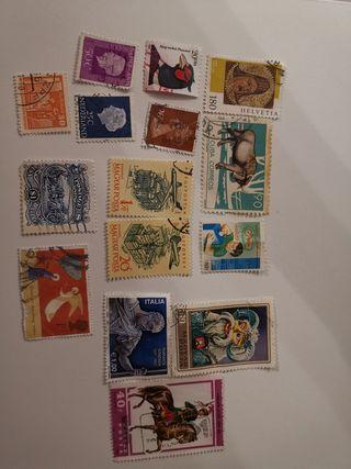varios sellos extranjeros