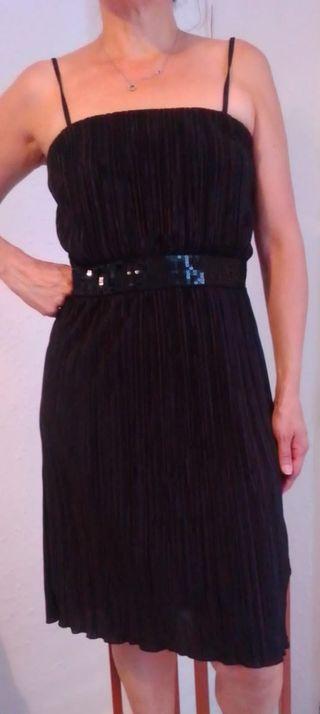 vestido negro Seite 1girl talla L nuevo