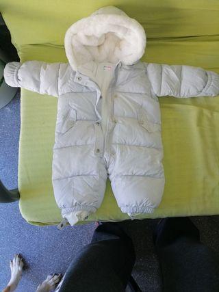 mono de invierno gris 62cm 3a6m negociable