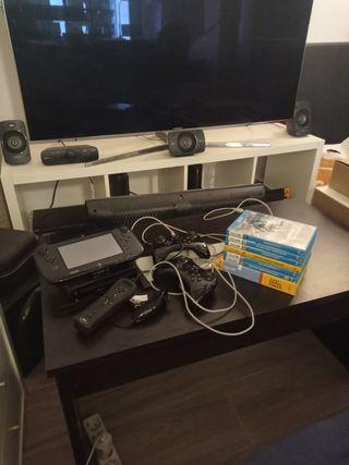Wii U negra 32 GB + 3 mandos especiales + 7 juegos