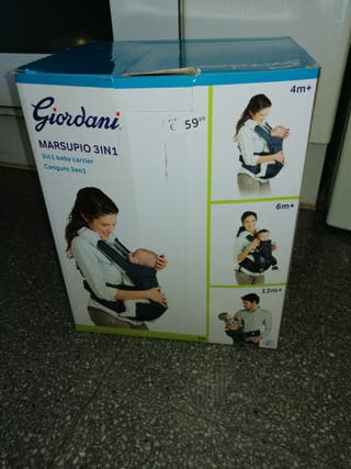 mochila porta bebé 3 en 1.