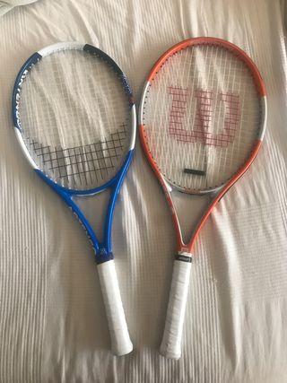 Pack Raquetas tenis. O por separado tennis.