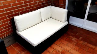 sofa exterior ratán negro