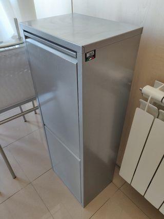 Mueble armario 2 cajones cubos reciclaje