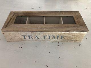 Caja té gris vintage