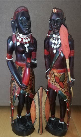 Figuras guerreros Massai