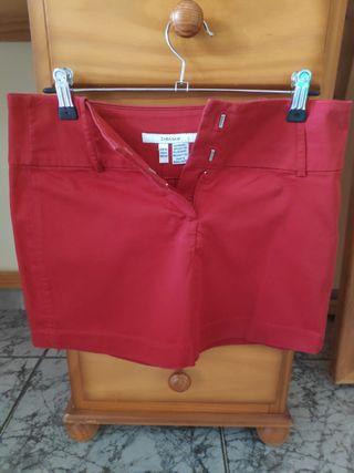 Falda roja Zara