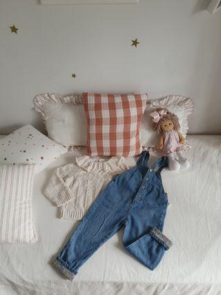 Peto y jersey Zara talla 4 -5 años