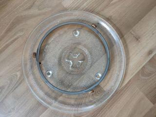 Plato cristal microondas